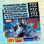 Invitaciones Thor-superheroes-marvel-avengers-comic