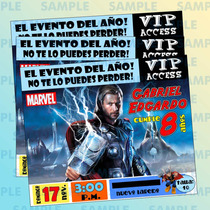 Invitaciones Thor-superheroes-marvel-avengers-comic
