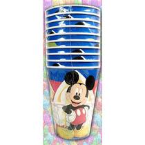 Vasos Mickey Mouse 11 Cm De Alto (paquete Con 10 Piezas)