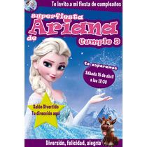 Ipr-001 Frozen Invitación Portada De Revista Personalizada