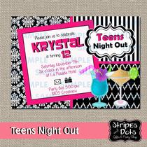 Invitaciones De Cumpleaños Fancy-teens Night Out-drinks