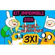 Kit Imprimible Hora De Aventura 3x1 Kit Imprimible Hora De A