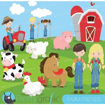 Kit Imprimible Granja Animalitos Imagenes Clipart