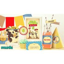 Kit Imprimible Toy Story Cowboy Vintage Personalizado