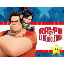 Kit Imprimible Ralph El Demoledor Diseña Tarjetas Cumples