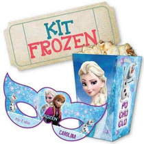 Mega Kit Imprimible Frozen Invitaciones Candy Bar Calendario