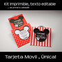 Kit Imprimible Tarjeta De Invitacion Movil Mickey Mouse