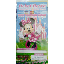 Mimi Rosa 20 Invitaciones Ticket Fiesta