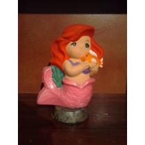 Recuerdos Princesa Ariel Alcancía Pintada A Mano