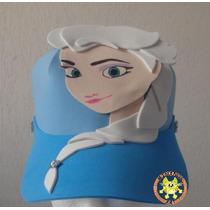 Paquete 5 Gorras Foamy Fomi Disfraz Anna Elsa Frozen Peppa