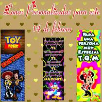 Lonas Personalizadas Para 14 De Febrero De .50x1.50