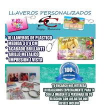 Llavero Plástico Con Tu Imagen, Bodas, Xv Años, Babyshower