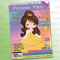 Invitaciones Bella-invitaciones Princesas-princesas-bella