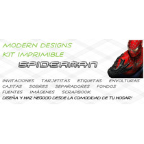 Kit Imprimible Spiderman Adornos Invitaciones Recuerdos Y+