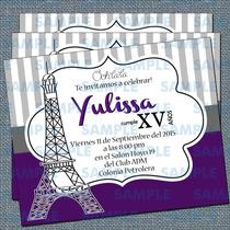 Invitaciones De Xv Años-invitaciones París-torre Eiffel