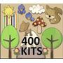 Kit Imprimible 400 Kits Imágenes Png Invitaciones Recuerdos