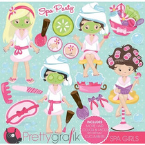 Kit Imprimible Spa Party Imagenes Clipart
