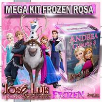 Frozen Rosa Cartel Invitacion Kit Imprimible Y Mas Jose Luis