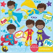 Kit Imprimible Superheroes 3 Imagenes Clipart