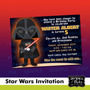 Invitaciones De Star Wars,joda,jedi,darth Vader, Star Wars