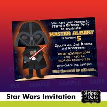 Invitaciones De Star Wars,joda,jedi,darth Vader, Star Wars
