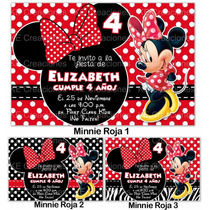 Invitaciones Minnie Mimi Disney Kit Imprimible Fiesta