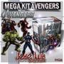 Avengers Vengadores Invitaciones Kit Imprimible Jose Luis