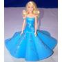 Muñeca Barbie Con Vestido De Foamy, Para Regalo, Xv Años...