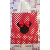Bolsitas Dulceros De Tela Mimi Mouse Rosa Rojo Mickey Mouse