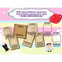Klr-009 Kit De Moldes Para Invitación Tipo Se Busca