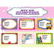 Klr-003 Kit De Etiquetas Escolares, Muchos Modelos Diferente