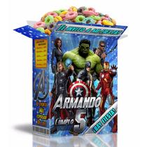 Kit Imprimible Los Vengadores Avengers Invitaciones Candy