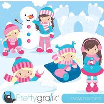Kit Imprimible Nieve Invierno Imagenes Clipart