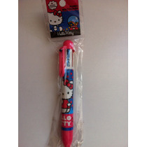 Pluma Multicolor Hello Kitty, 6 Colores! Fiesta