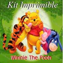 Kit Imprimible Winnie Pooh - Decoraciones, Cajitas, Fiesta