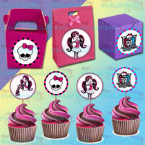 Etiquetas-tags-toppers De Quequitos-monster High-draculaura