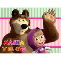 2x1 Kit Imprimible Masha Y El Oso Candy Bar Golosinas Y Mas