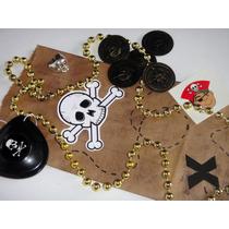 Pirata Parche Moneda Bolsita Dulcero Infantil Fiesta Calaca