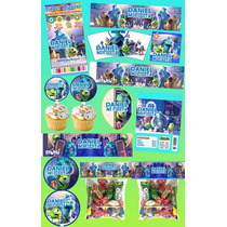 Kit Imprimible Monsters Inc Mas De 30 Etiquetas Personaliza