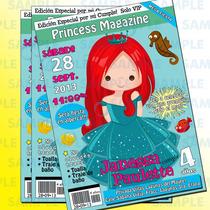 Invitaciones Princesas-ariel-aurora-bella-blanca Nieves