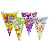 5 Banderín 2.5 Mts Para Fiesta Cumpleaños Decoración Eventos