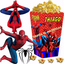 Kit Imprimible Hombre Araña Candy Bar Spiderman Cotillon