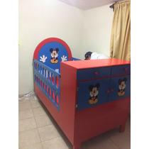 Cama Cuna Mickey Mouse Lagunilla