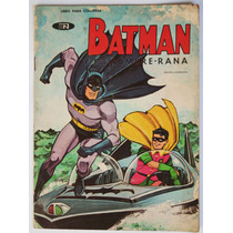 Batman Y El Hombre Rana 1968 Libro P/colorear Vintage