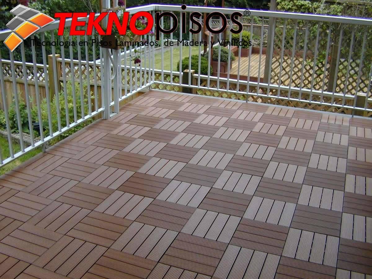 Deck de bamboo pvc para exteriores terrazas patios - Patios exteriores ...