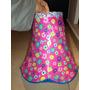 Pantalla Para Lampara De Flores Color Rosa Y Azul. Nueva!