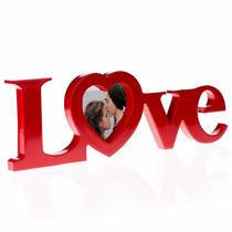 Porta Retratos Forma De Palabra Love Corazon Rojo H4071