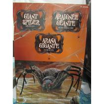 Araña Gigante Con Ojos De Led Para Decoración De Halloween