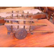 Exclusiva Carreta Decorativa De Madera Estilo Antigua.
