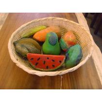 Frutero Canasto Grande Estilo Antiguo. Con Frutas